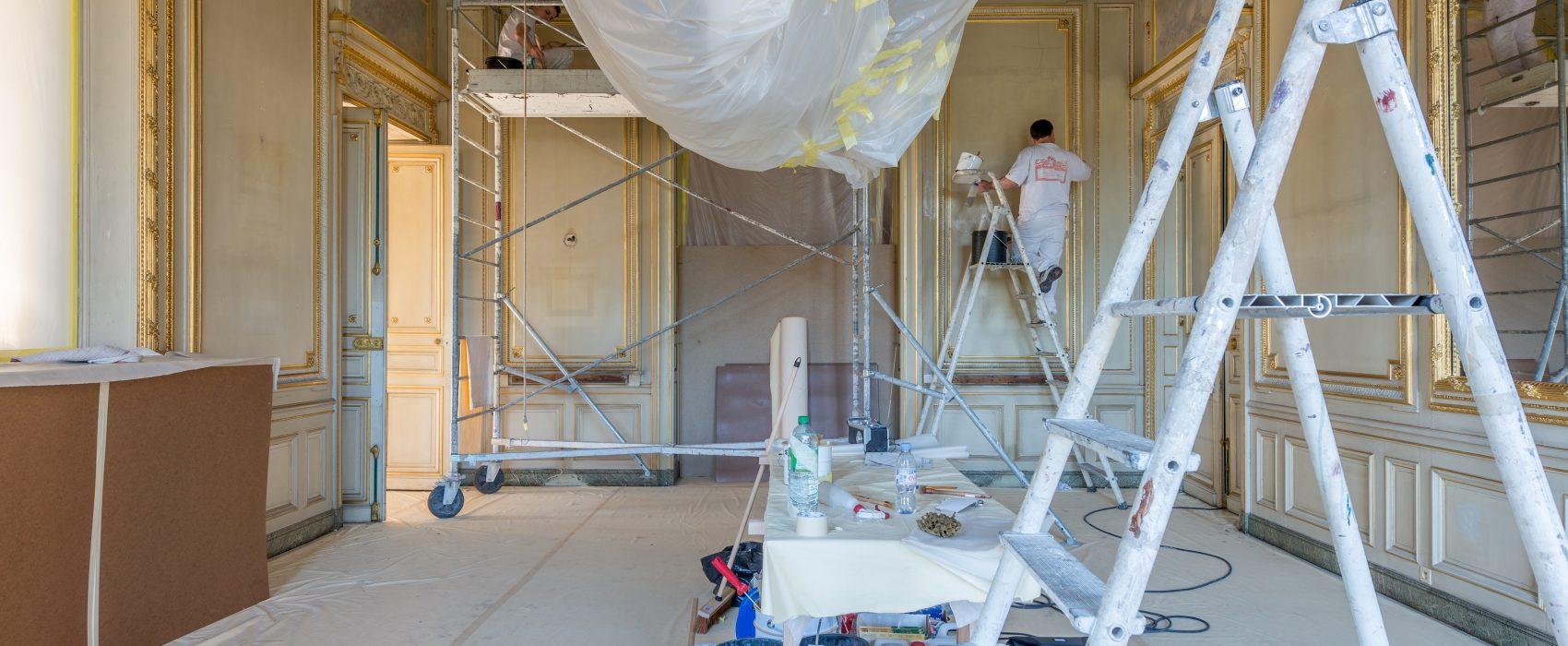 Chantier de restauration de l'Atelier Meriguet-Carrère, au Palais de la Légion d'honneur.